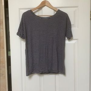 Tops - Black & stripe top! Size small.